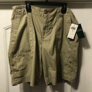 Ralph Lauren women's khaki shorts. Size 10. NWT.